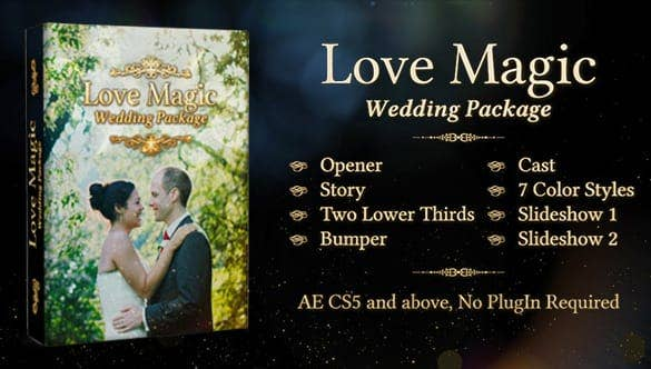 love magic wedding video template min