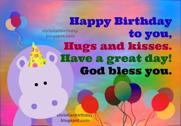 -Virtual Christian Birthday Card