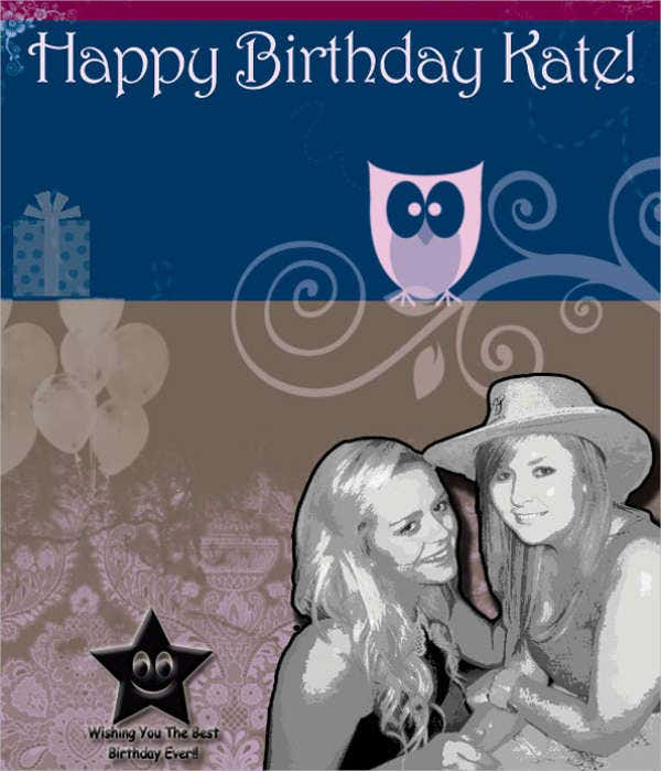 photo personalised birthday card