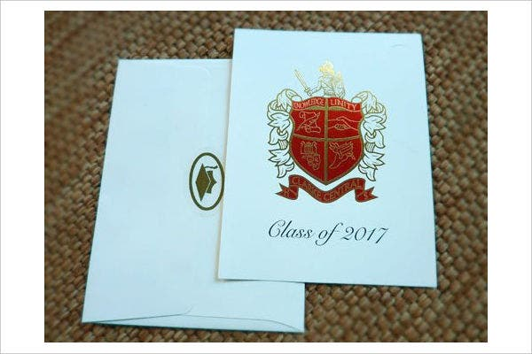 graduation invitation name card