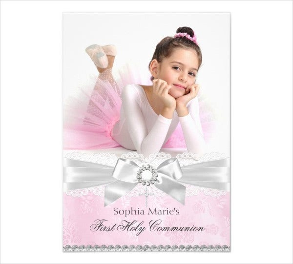 first holy communion invitation card with photo