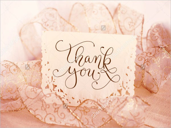 Thank You Card Wedding Gift: 45+ Sample Gift Card Designs & Templates