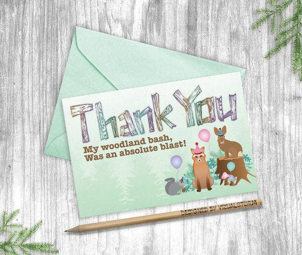 diy kid thank you card