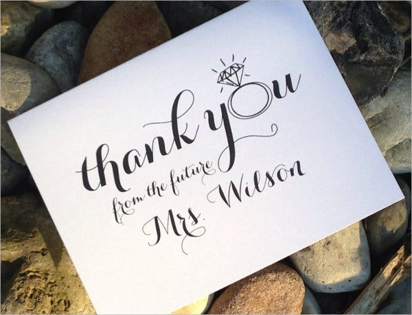 Thank You Letter For Wedding Gift: 45+ Sample Gift Card Designs & Templates