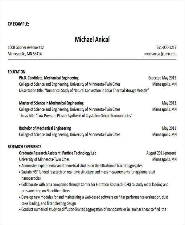 Generic Engineering Resume Templates  Free  Premium Templates