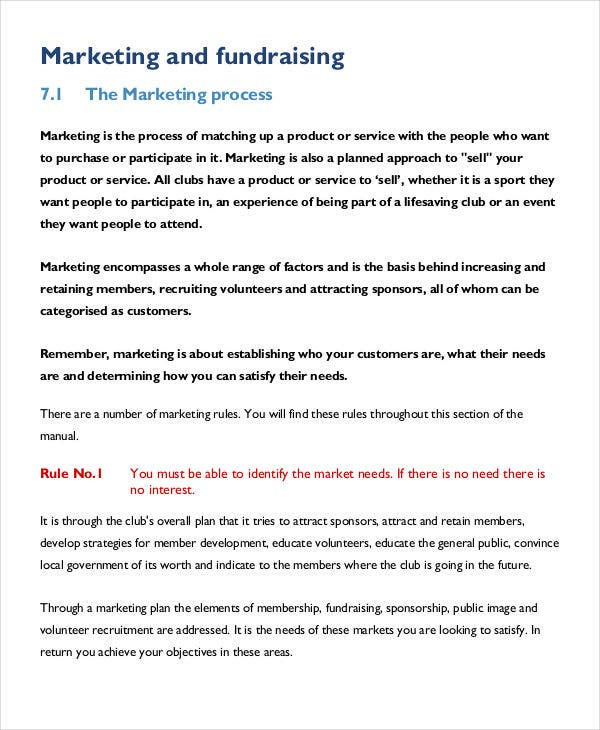 fundraising event marketing plan5