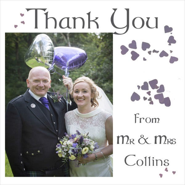 wedding photo thank you card2
