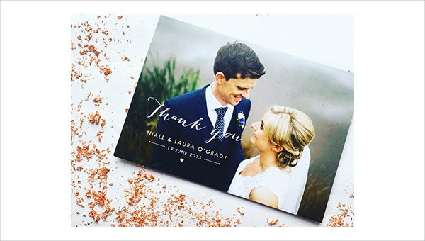 wedding party thank you card