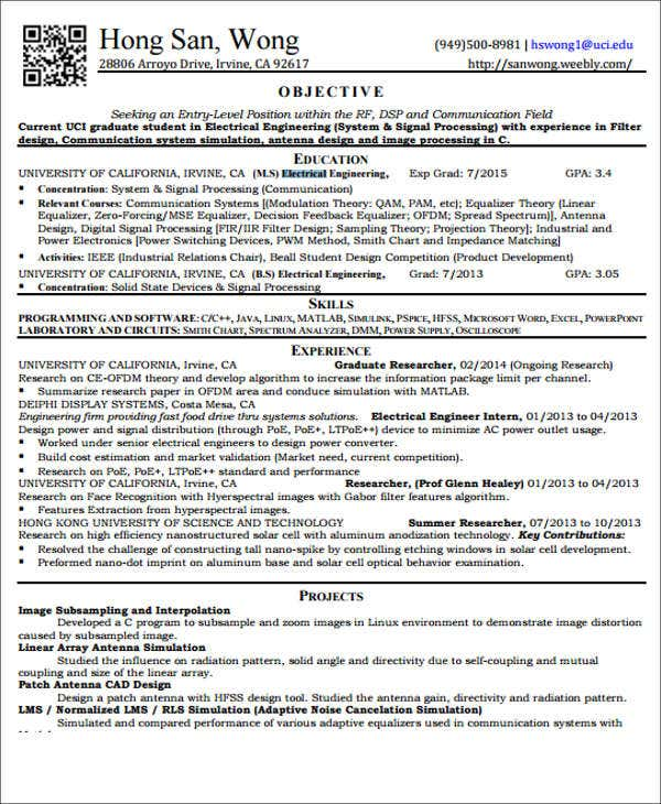 electrician entry level resume sales 28 images