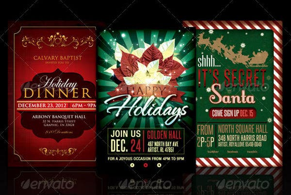 holiday party invitation flyer