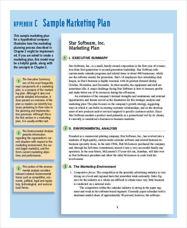 Marketing Plan Templates In Pdf  Free  Premium Templates