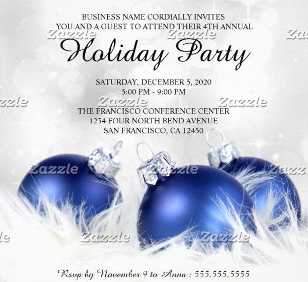-Holiday Office Party Flyer