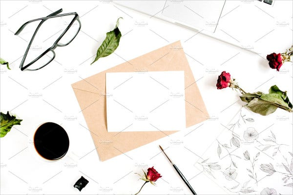 blank square invitation card