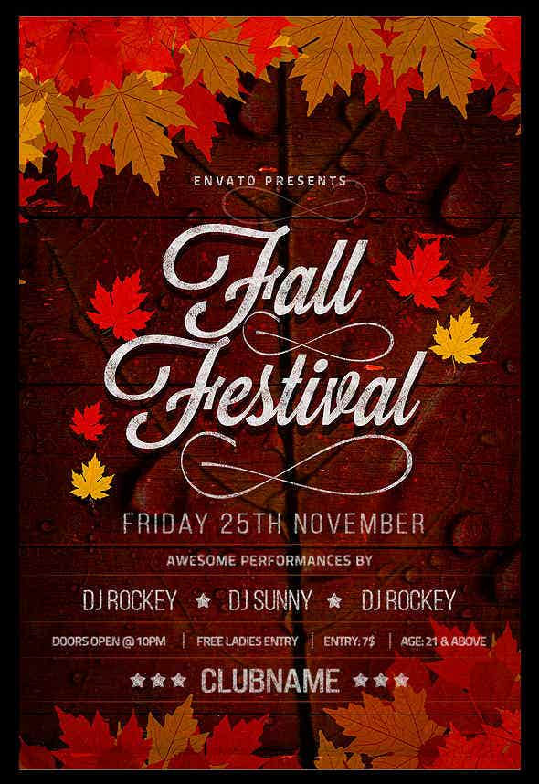 Fall Flyer. Festival_Of_The_Harvest_Church_Flyer_Template_Preview