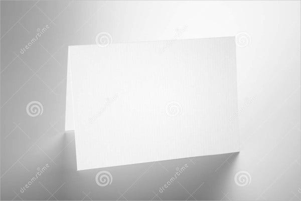 blank folded invitation card