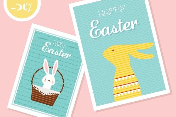 easter celebration card design