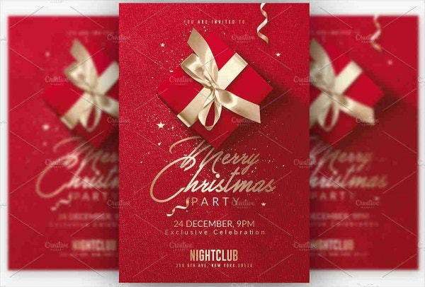 -Red Christmas Party Flyer