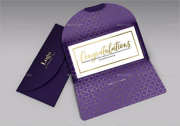 blank gift card envelope