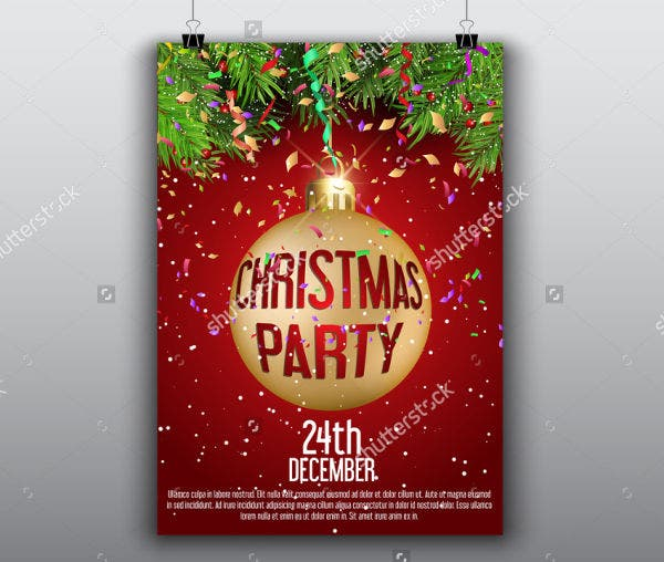 Awesome  Christmas Party Invitation Flyer