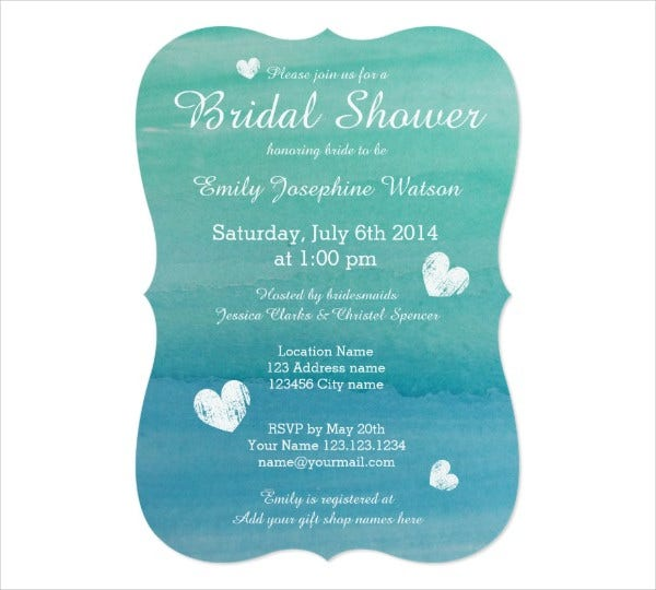 beach theme bridal shower invitation wording