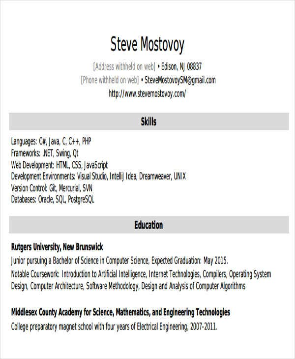 entry level software engineering resume3
