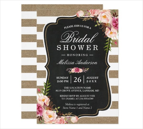 country bridal shower invitation card
