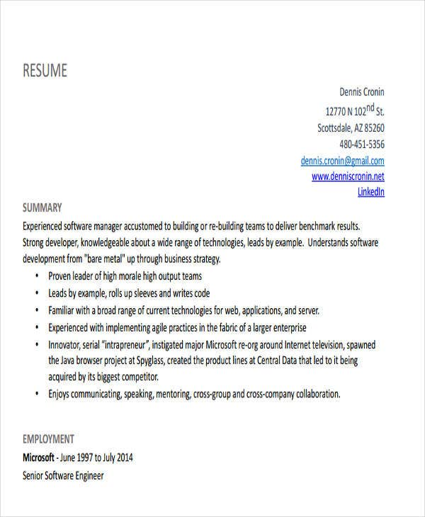 software engineering manager resume2