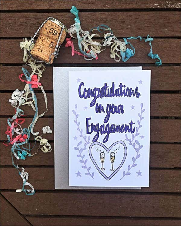 Engagement Wishes Greeting Card