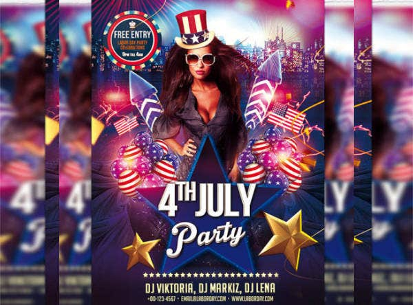 -4th of July Party Flyer