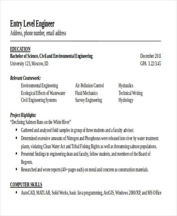 26 generic engineering resume templates free premium