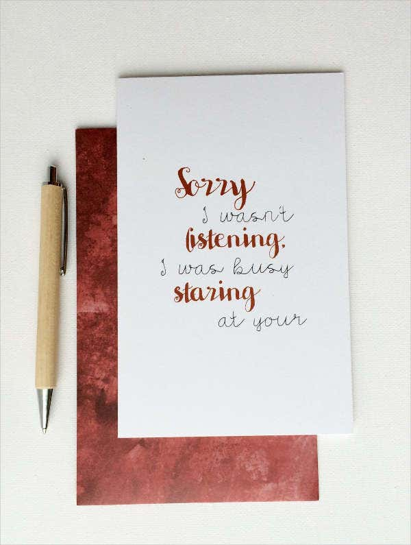 Funny Sorry Greeting Card