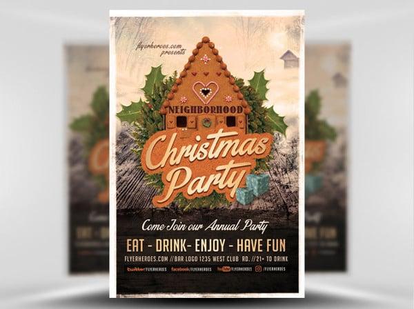 neighborhood party flyer