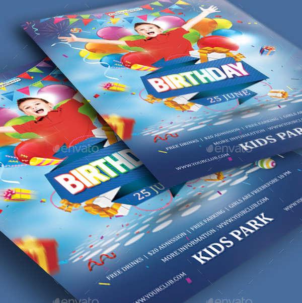 birthday party invitation flyer