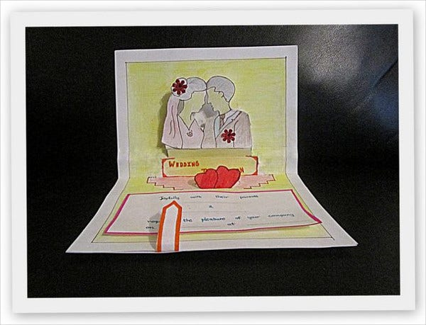 diy pop up invitation card