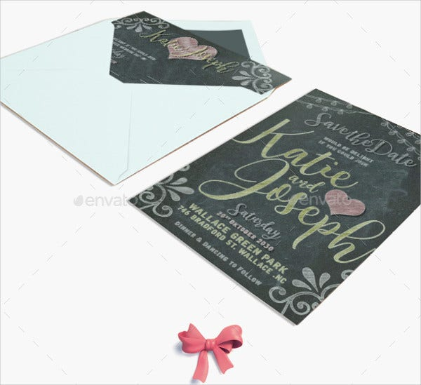 diy chalkboard invitation card