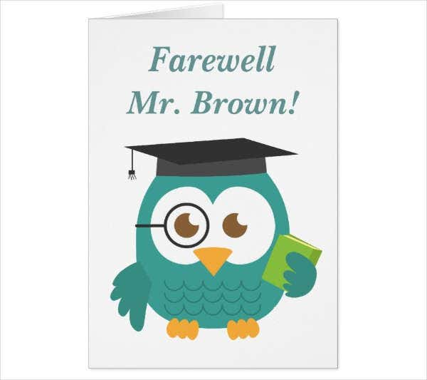 Teacher Farewell Greeting Card