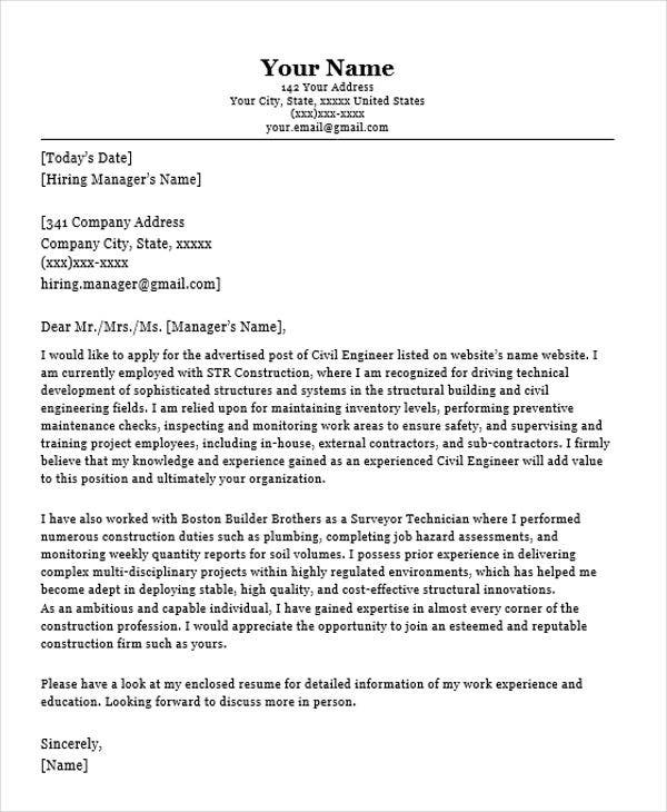 sample resume cover letter - Examples Of Resume Cover Letter