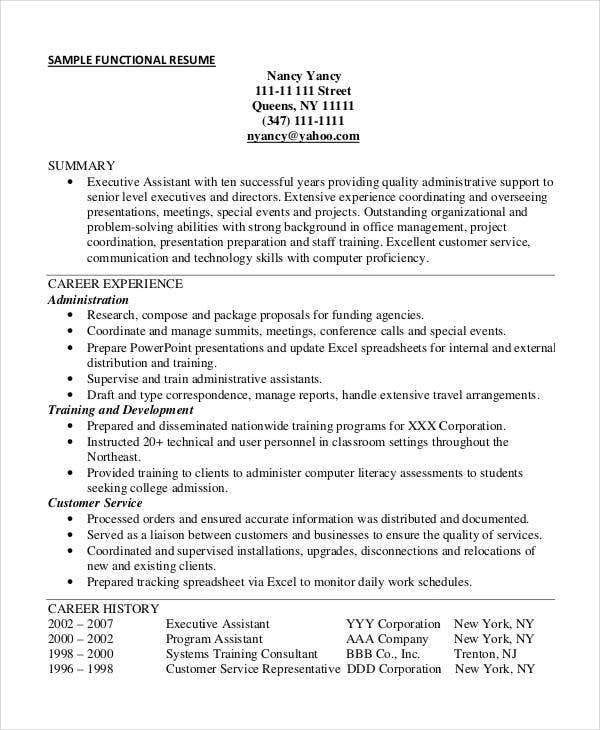 functional resume template pdf chronological resume for canada joblers functional resume template functional executive assistant