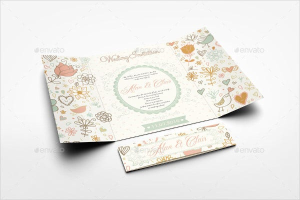 diy gatefold invitation card