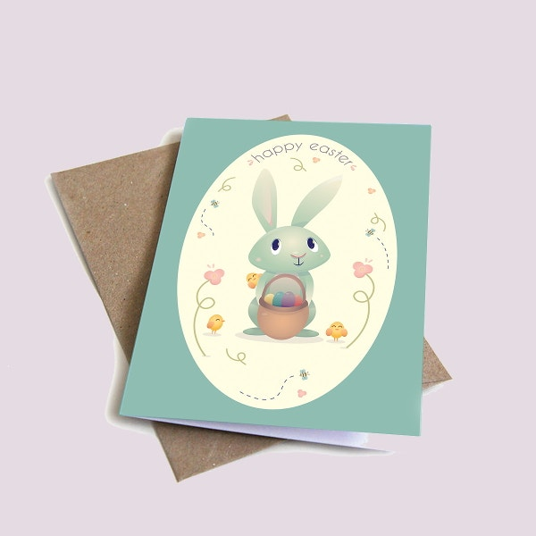 Easter Greeting Card Templates  Free  Premium Templates