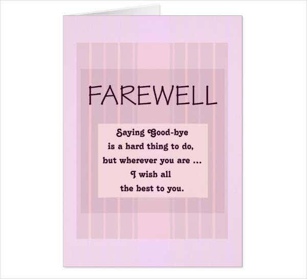 School Farewell Greeting Card