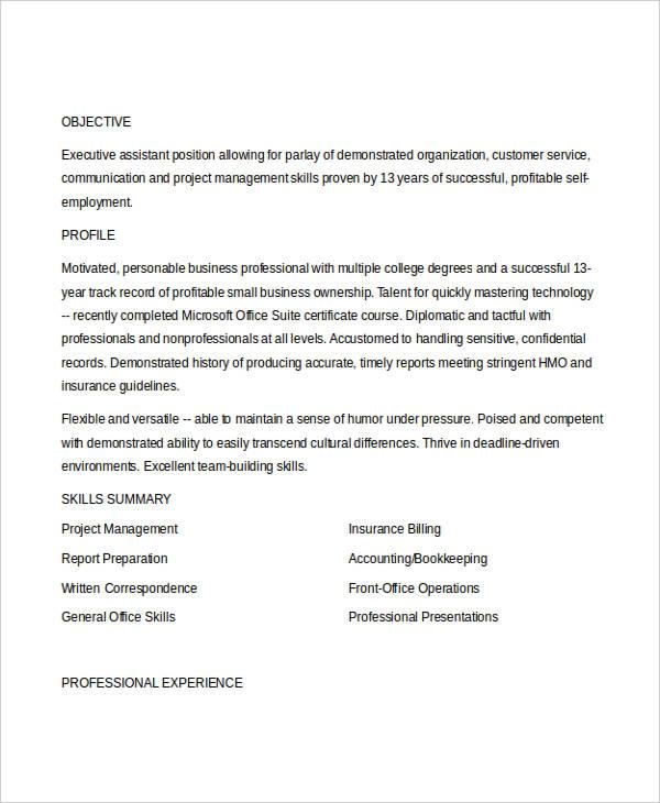 61 executive resume templates free premium templates
