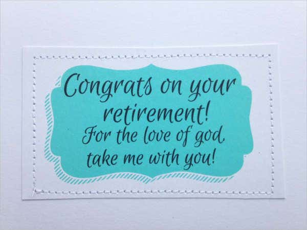 Farewell Retirement Greeting Card