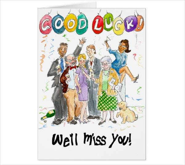 Farewell Party Greeting Card