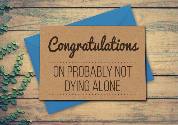 Funny Engagement Greeting Card