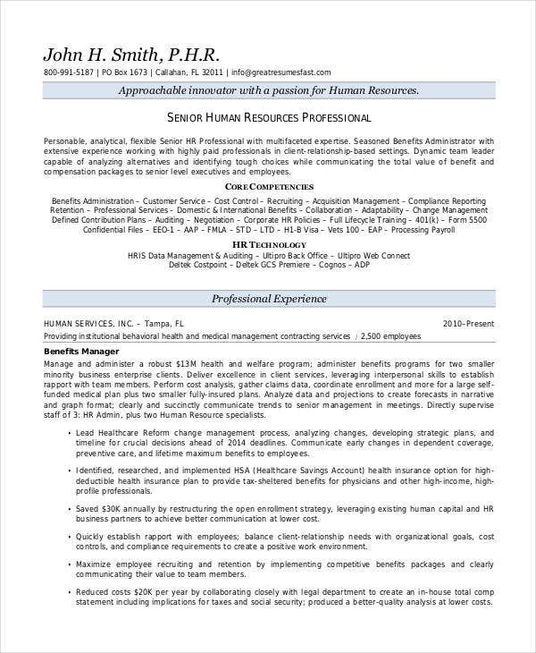 senior hr executive resume2