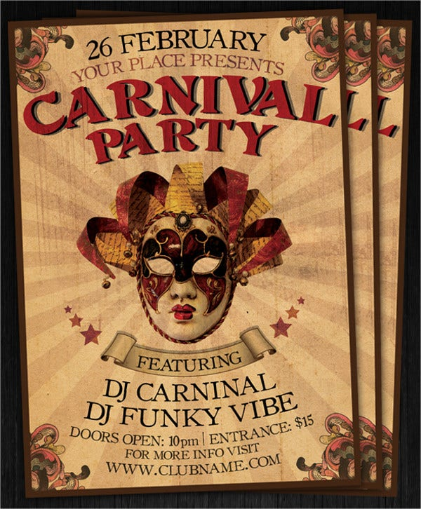 Carnival Club Party Flyer