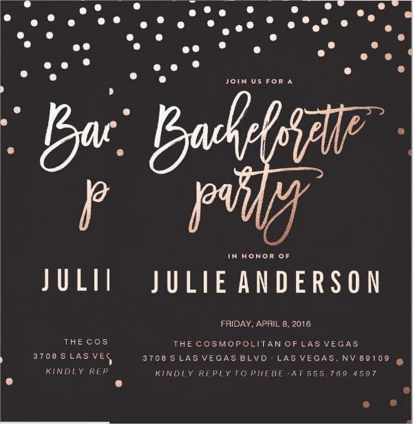 bachelorette party invitation flyer
