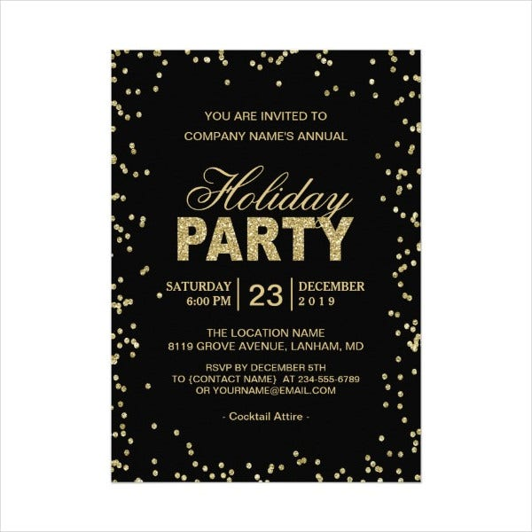Employee Holiday Party Flyer