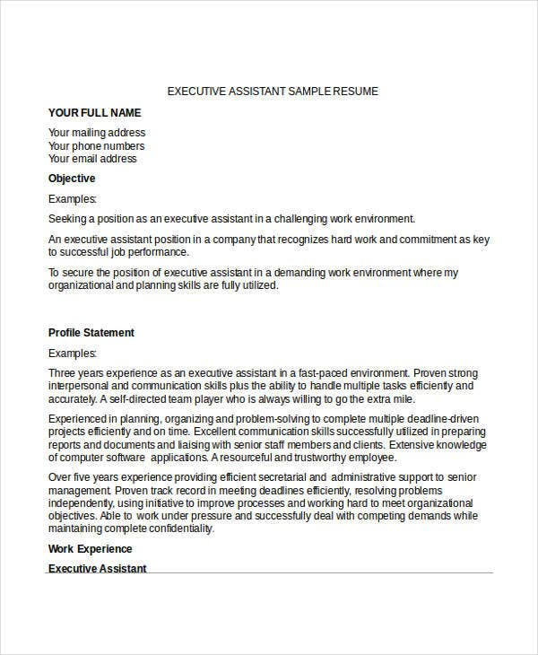 executive resume templates free premium microsoft word functional template download
